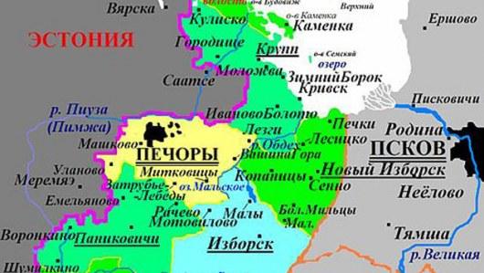 Спорная територия росси и эстонии